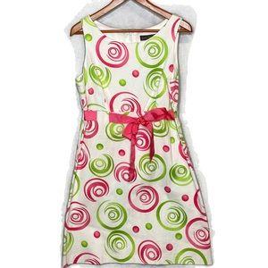 Jessica Howard Sleeveless White Green Pink Dress